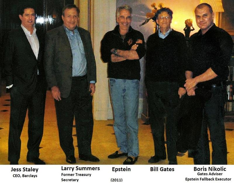 Jeffrey Epstein, Bill Gates, Larry Summers